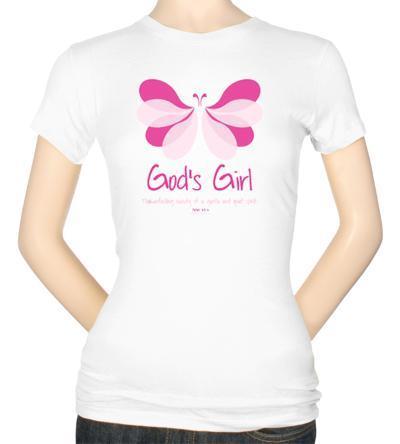 Womens: Butterfly Girl Unfading Beauty