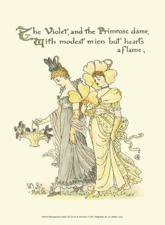 Shakespeare's Garden XI (Violet & Primrose)