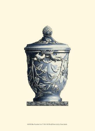 Blue Porcelain Urn I