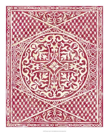 Woodcut in Red I