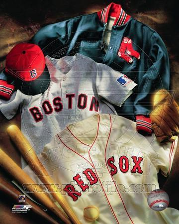 Boston Red Sox - Boston Red Sox Cooperstown Collage