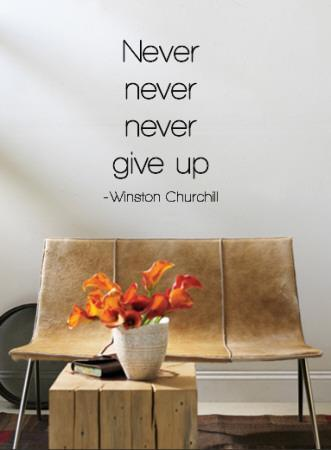 Never Give Up - Winston Churchill