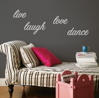 Live, Laugh, Love, Dance - Grey