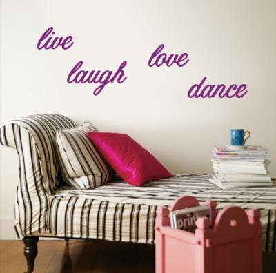 Live, Laugh, Love, Dance - Purple
