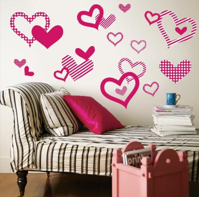 Bright Pink Pattern Hearts
