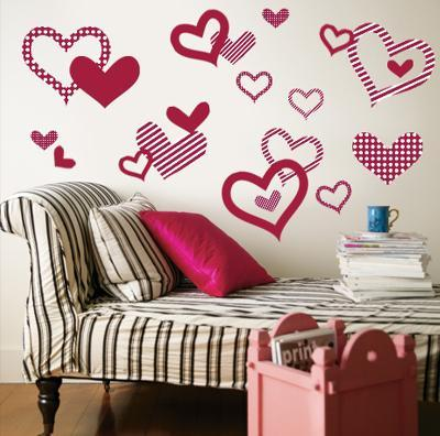 Red Pattern Hearts