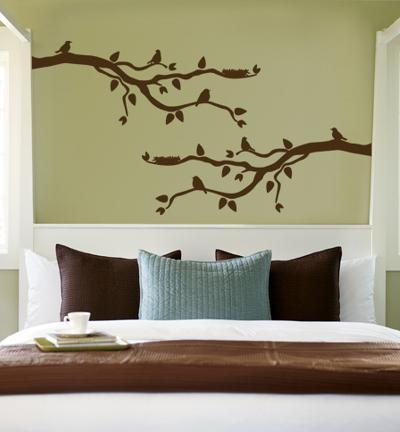 Brown Branch With Birds