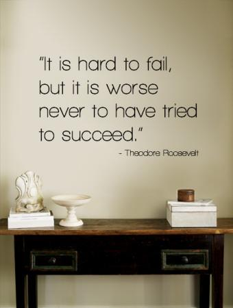 Hard to Fail - Theodore Roosevelt