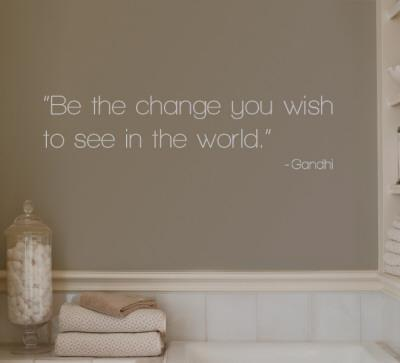 Change - Gandhi - Grey