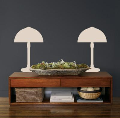 Taupe Deco Lamps