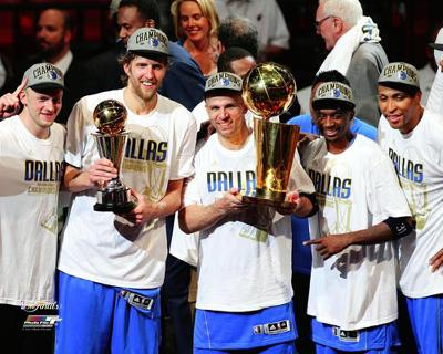 Dallas Mavericks - Brian Cardinal, Dirk Nowitzki, Jason Terry, Shawn Marion, & Jason Kidd