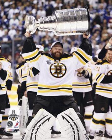 Boston Bruins - Tim Thomas w/ Stanley Cup