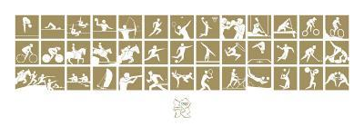 London 2012 Olympics, Gold Pictograms