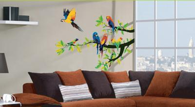 Parrots Wall Decal Sticker