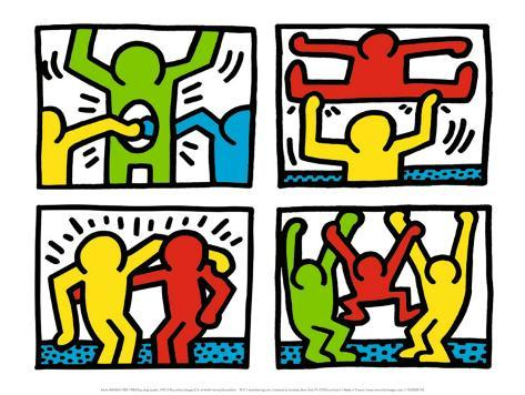 Dance Keith Haring Abstract Contemporary Figurative Print Poster 11x14 1987