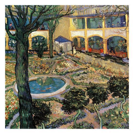 Le Jardin De L'Hopital D'Arles Prints by Vincent van Gogh
