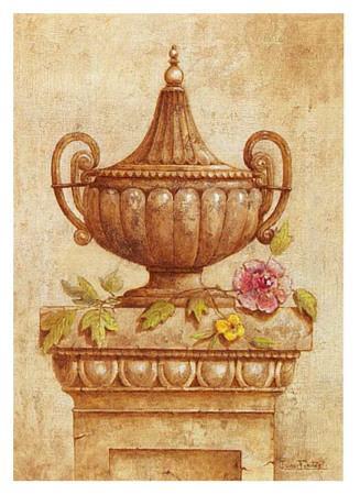 Vasijas Sepia Con Flores II