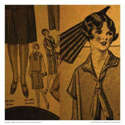 Vintage Girlwear 1925 (Yellow)