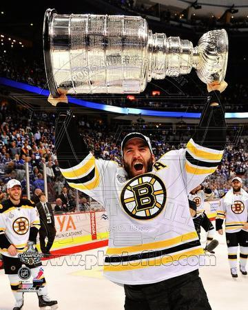 Patrice Bergeron with the Stanley Cup Game 7 of the 2011 NHL Stanley Cup Finals(#45)