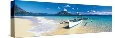 Outrigged Canoe On the Beach