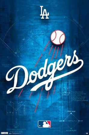 Los Angeles Dodgers- Blueprint Logo