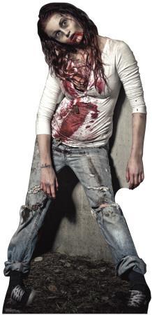 Zombie Girl Lifesize Standup