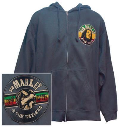 Zip Hoodie: Bob Marley - Rebel Music Record