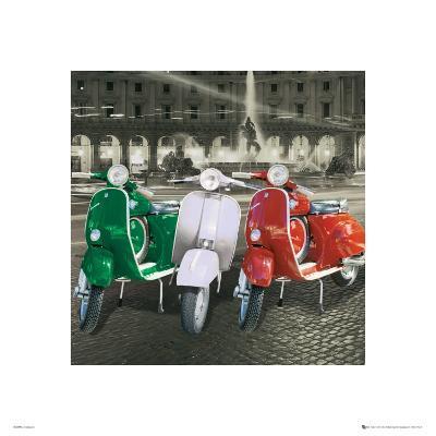 Vespas Italian Flag