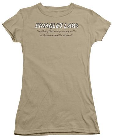 Juniors: Finagle's Law