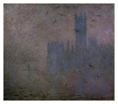 Houses of Parliament, Seagulls, 1904
