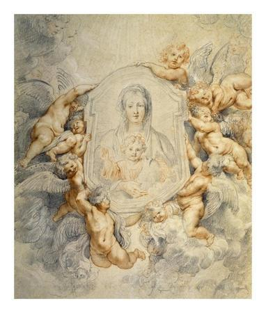 Image of the Virgin Portrayed with Angels