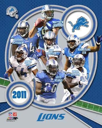 Detroit Lions 2011 Team Composite