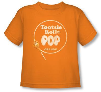 Toddler: Tootsie Roll Pop - Logo Orange