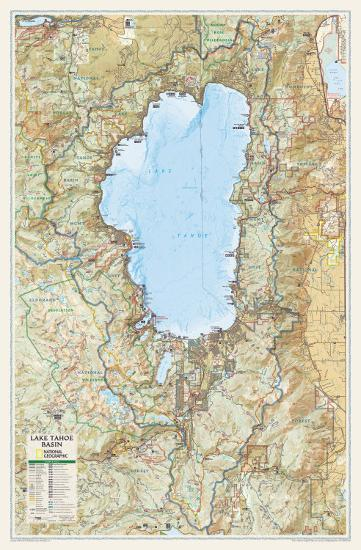 National Geographic Lake Tahoe Basin Map Poster at AllPosters.com