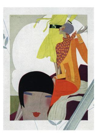 Art Deco Ladies Talking
