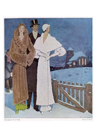 Art Deco Winter Evening