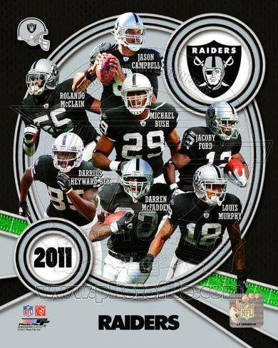 Oakland Raiders 2011 Team Composite Photo At Allposters Com