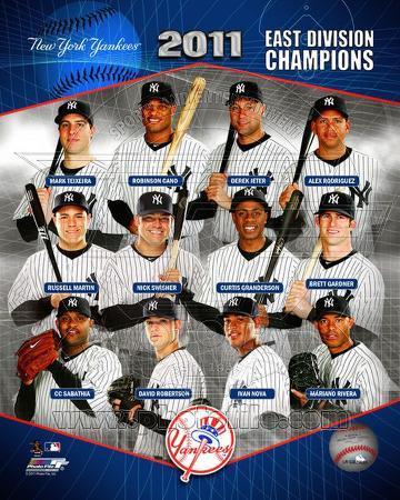 New York Yankees 2011 AL East Champions Composite