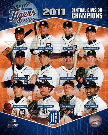 Detroit Tigers 2011 AL Central Champions Composite