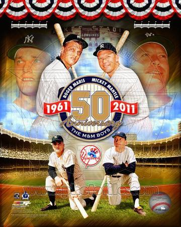 Roger Maris & Mickey Mantle 50th Annivesary Portrait Plus