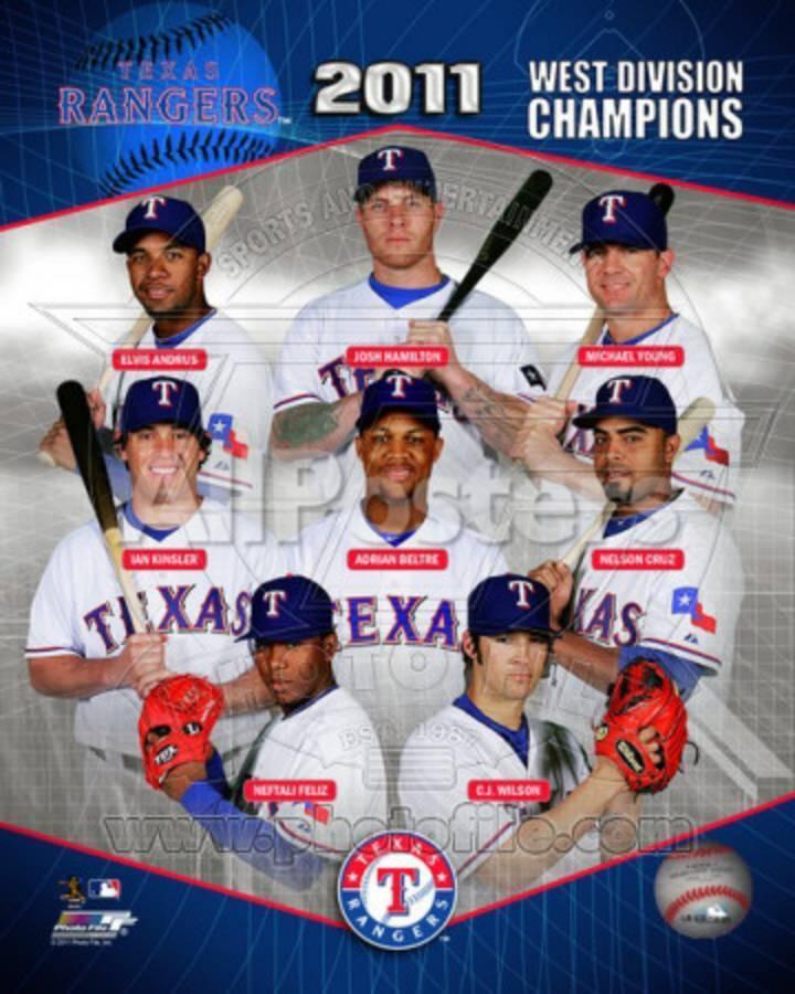 Texas Rangers 2011 AL West Division Champions Composite
