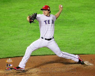 Derek Holland Game 4 of the 2011 MLB World Series Action (#16)