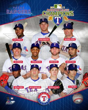 MLB Texas Rangers 2011 American League Champions Composite