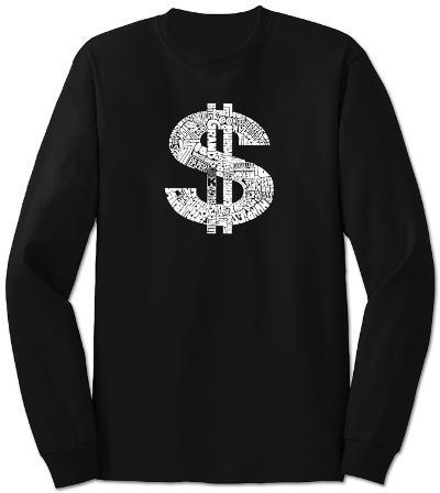 Long Sleeve:  Dollar Sign
