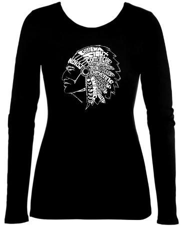 Womens Long Sleeve: Native American Indian