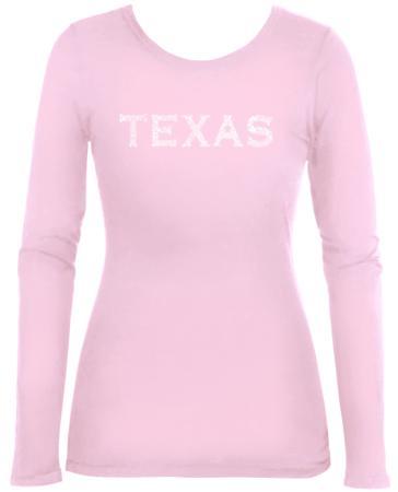 Womens Long Sleeve: Texas Cities