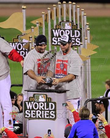 Lance Berkman & Albert Pujols - World Series Championship Trophy 2011 World Series (#43)