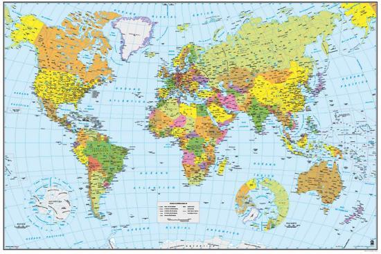 World Map Spanish Prints At Allposters Com