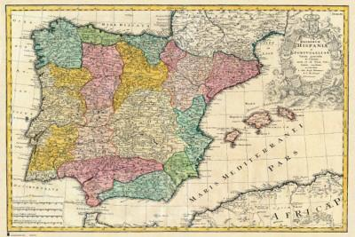 Spain Old Map Photo At Allposterscom - Old-map-of-us