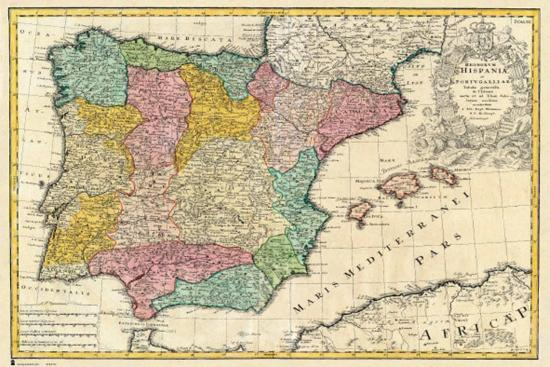 Map Of Spain For Classroom.Spain Old Map Photo At Allposters Com